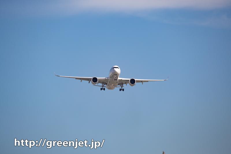 城南島でJALのエアバスA350に迫る!