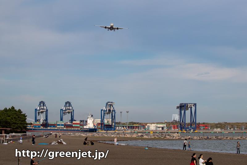 城南島でデルタのエアバスA350を捕獲!