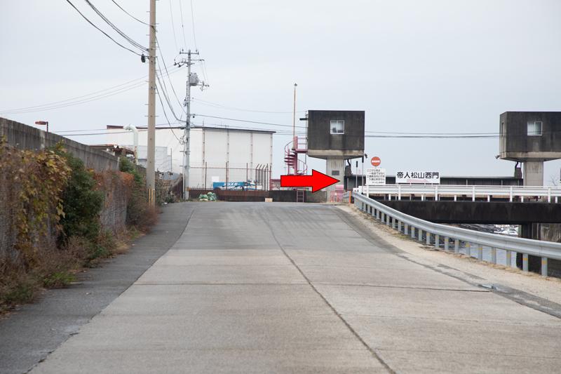 【松山の飛行機撮影ポイント】帝人北地区前の河口