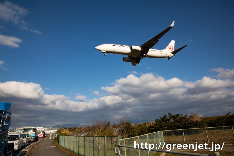 【松山の飛行機撮影ポイント】RWY32エンド