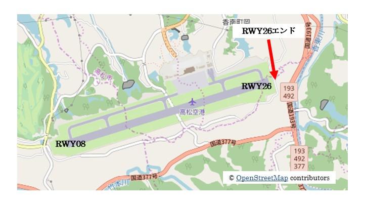 【高松の飛行機撮影ポイント】RWY26エンド