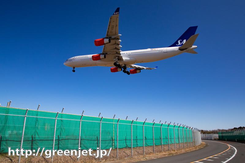 24mmで撮る飛行機@SASのA340