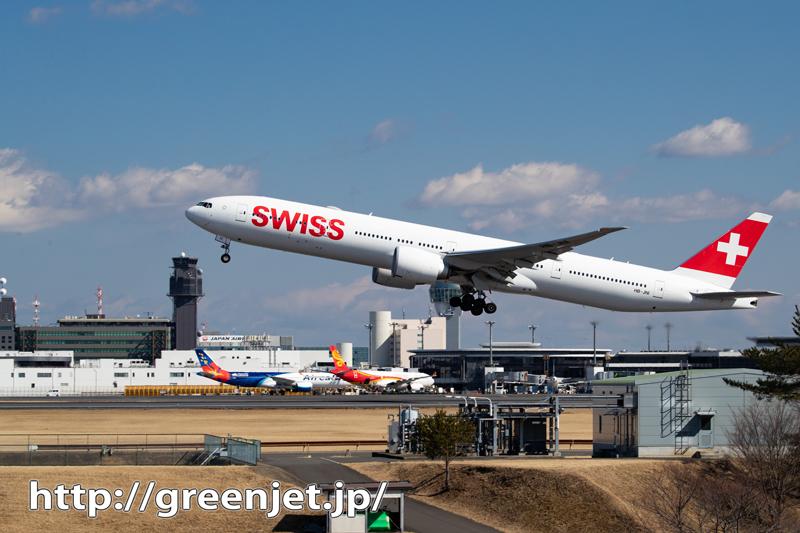 SWISSのB777を奥の細道で撮る。。