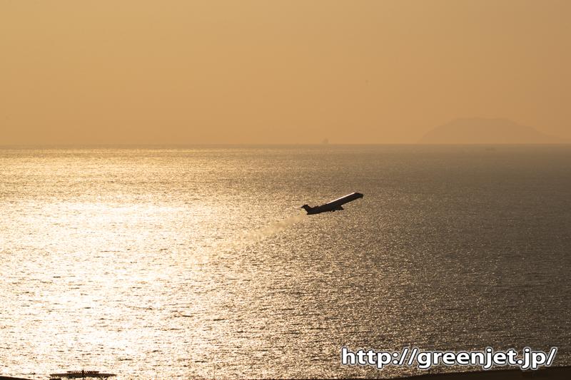 垣生山でその時を待つ@感動の飛行機写真