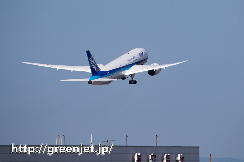 松山空港の展望デッキ~順光で撮る飛行機