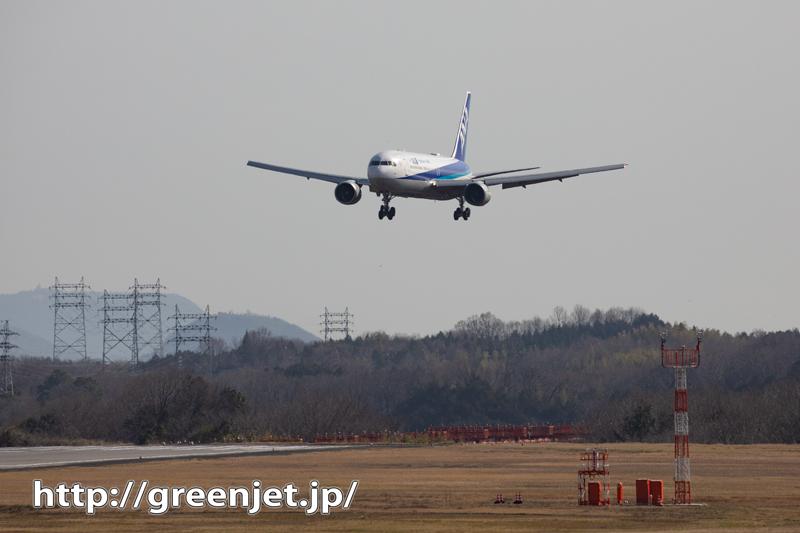 高松で飛行機の豪快な着陸を捉える!