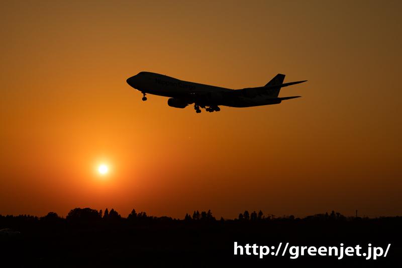 成田の夕日とジャンボ~飛行機写真は美しい