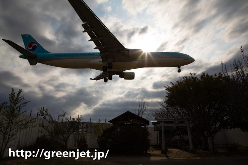 戦慄の飛行機写真@東峰神社..みたいな