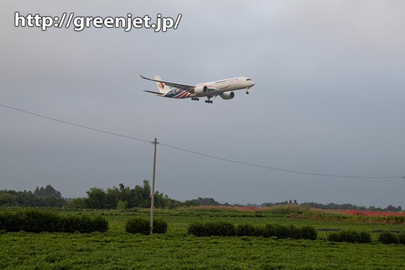 飛行機@マレーシア独立60周年/A350