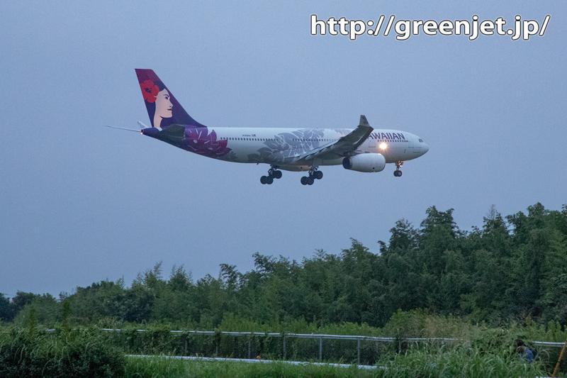 ハワイアンな飛行機を成田で捉える!