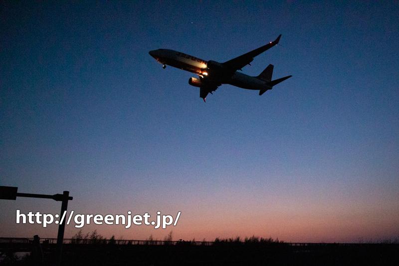 マジックアワーと飛行機写真@成田