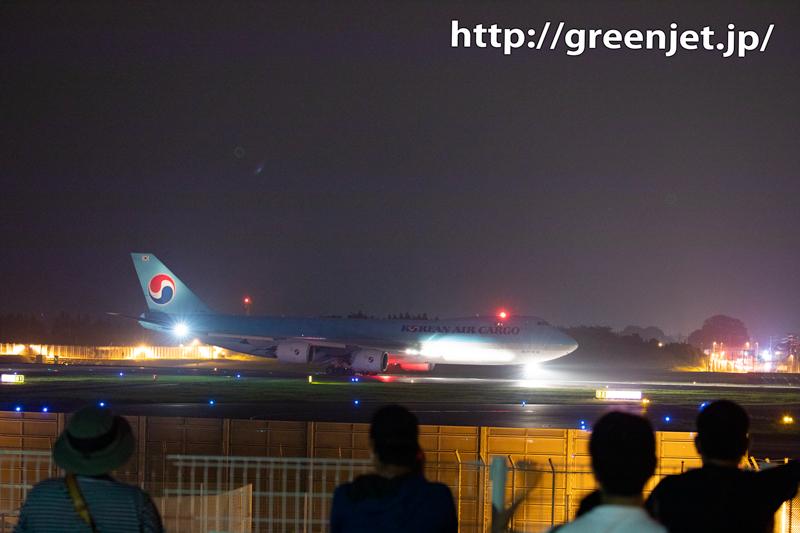 夜の飛行機写真~ジャンボはやっぱ美しい@成田