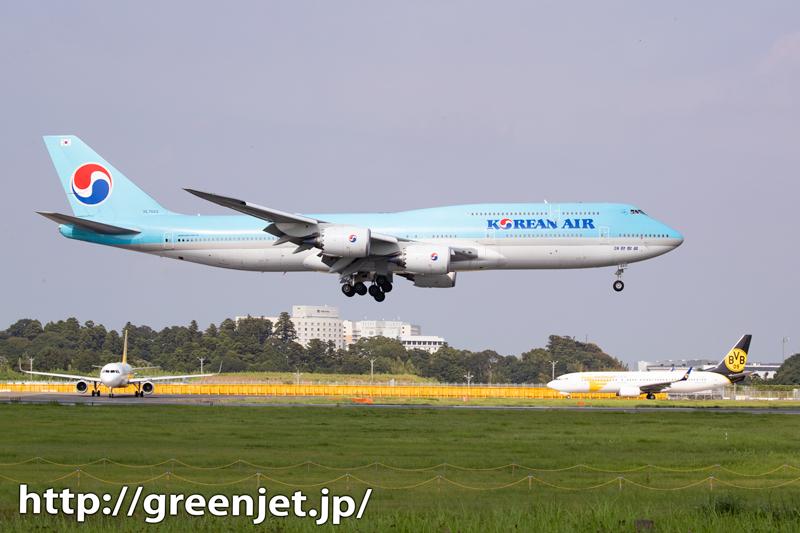 珍しく成田Aラン降り~ジャンボの飛行機写真