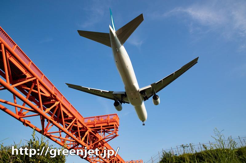 成田で飛行機のお腹を撮る!キャセイ