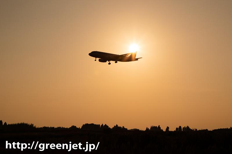 夕日と飛行機~こういう絡みも素敵!成田