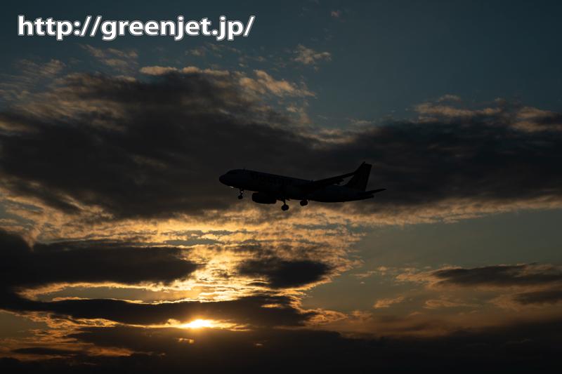 雲多め飛行機写真も夕焼け絡むと超美しい!