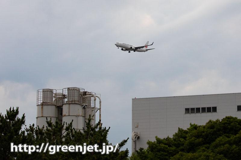 こんなところから飛行機が見えてくる!羽田