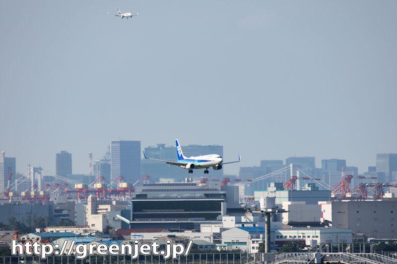 羽田~第三ターミナルで着陸の飛行機をダブルで
