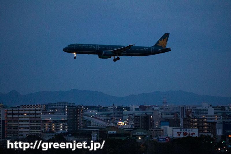 飛行機写真~福岡の夜明け@ベトナム