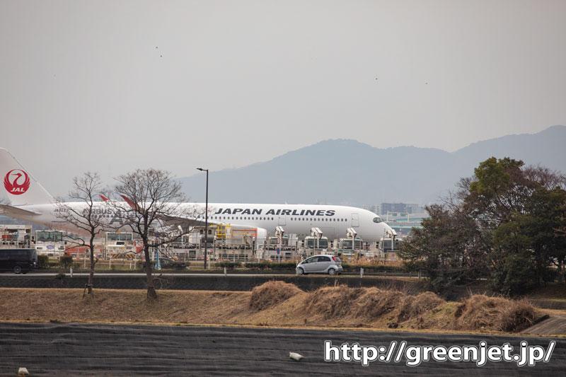 福岡発は飛行機がこんなトコから見えた