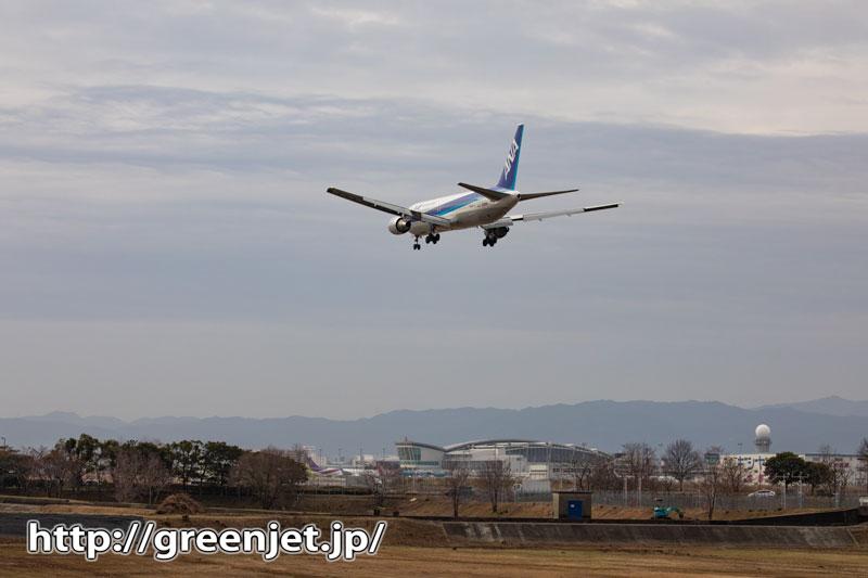 たまには黄昏た感じの飛行機写真~福岡