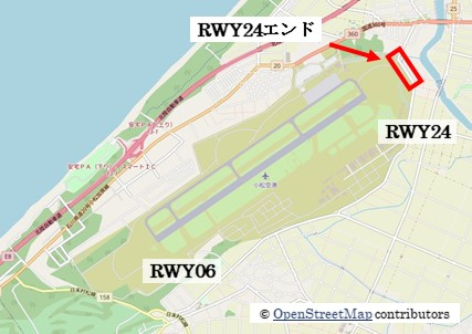 【小松の飛行機撮影ポイント】RWY24エンド
