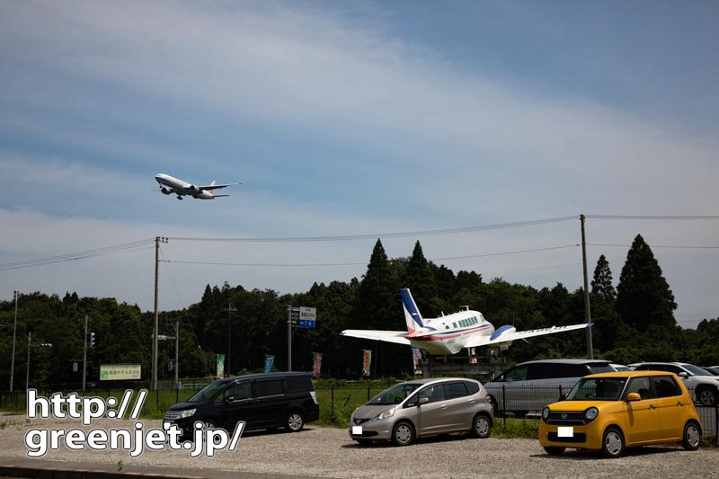 展示機と現役の飛行機