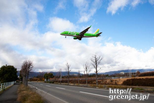 飛行機写真~松本のRWY18エンド最高だね