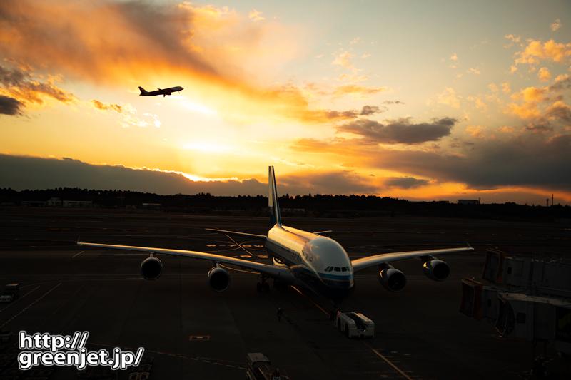 成田で飛行機~怪鳥の背景にドラマ