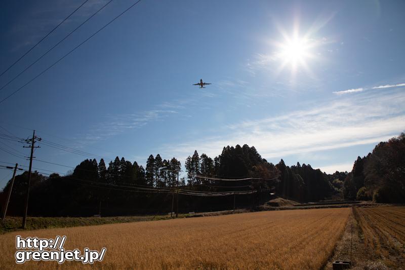 成田で飛行機~田んぼからオレンジライナー
