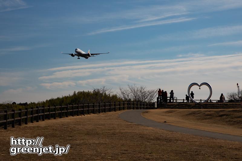 成田で飛行機~アシアナのエアバス A350