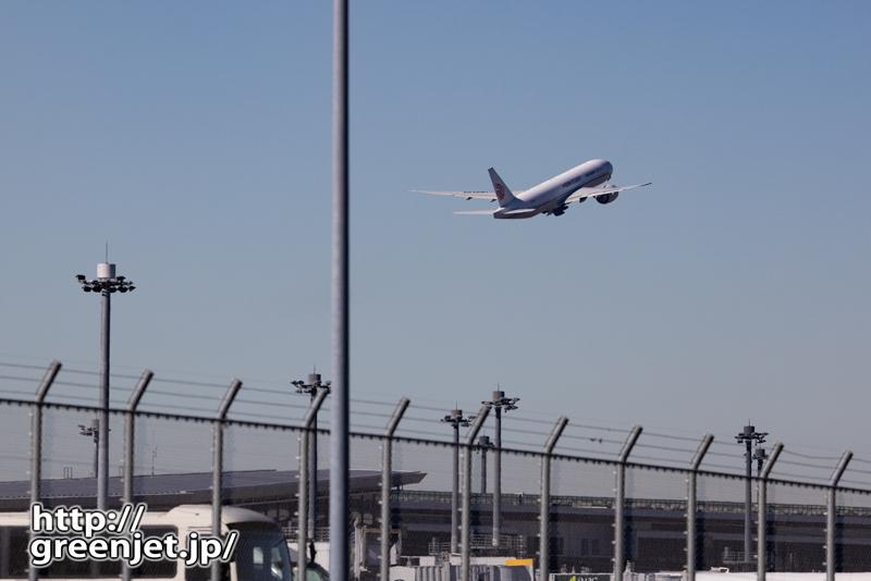 成田で飛行機~Aラン上がりを道端で眺める
