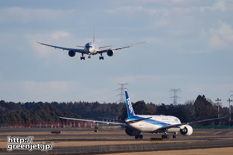 成田で飛行機~ダブルB78を引き寄せる!