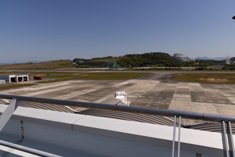 【南紀白浜の飛行機撮影ポイント】送迎デッキ
