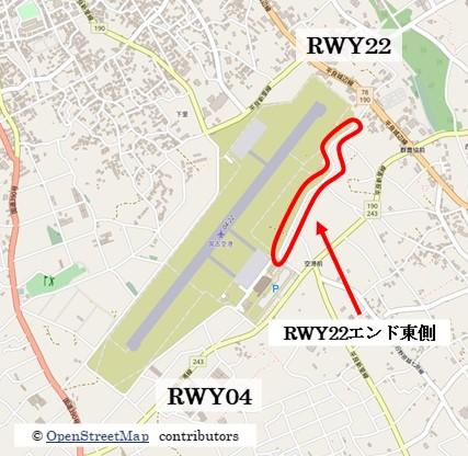 【宮古の飛行機撮影ポイント】RWY22エンド東側