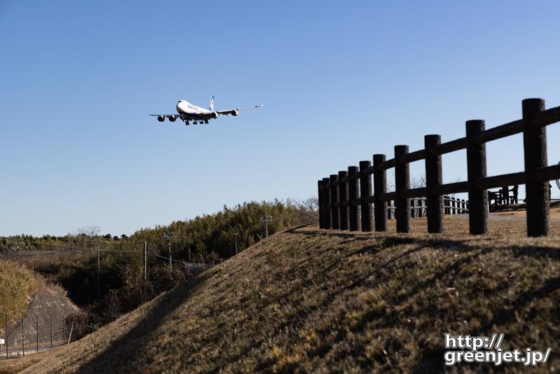 成田で飛行機~ひこうきの丘の柵とジャンボ