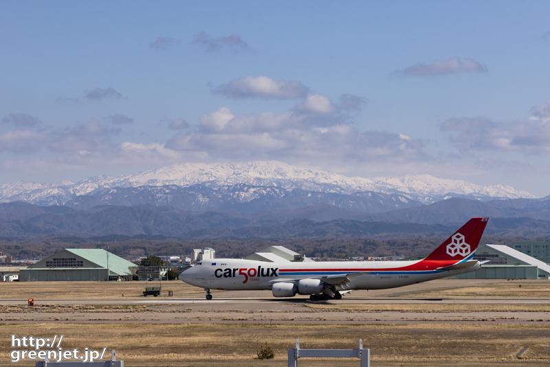 小松で飛行機~雪山とジャンボ