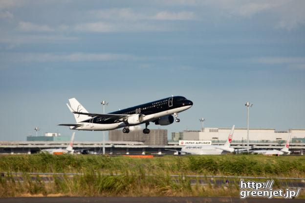 羽田で飛行機~RWY22上がりの黒いヤツ