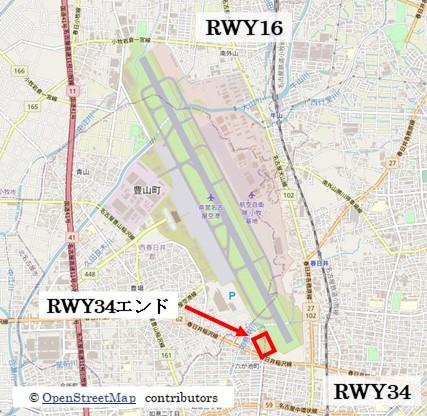【名古屋の飛行機撮影ポイント】RWY34エンド
