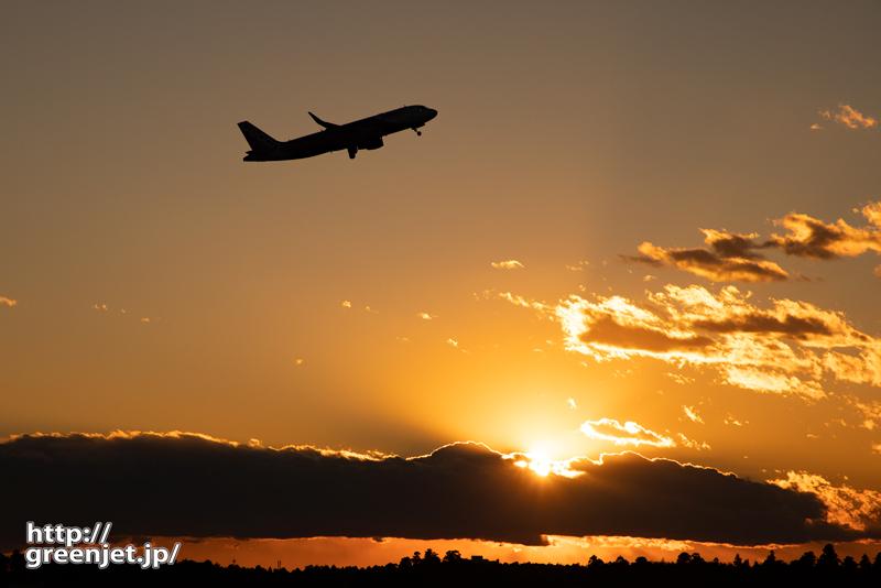 成田で飛行機~夕景を追っ駆ける!