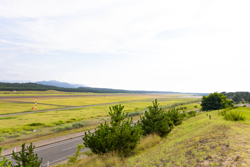 【庄内の飛行機撮影ポイント】夕日の丘