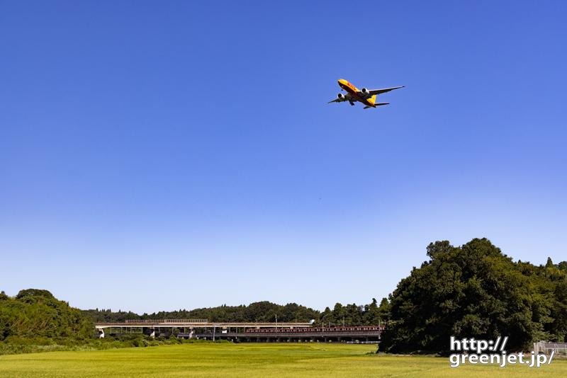 成田で飛行機~黄色と黄色!そして電車も