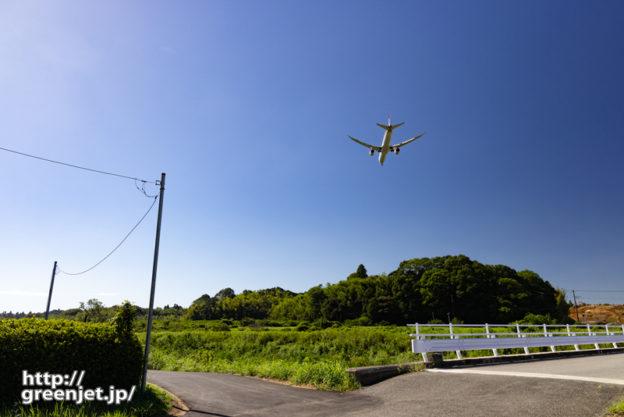 成田で飛行機~小さい橋とのコラボもいい!