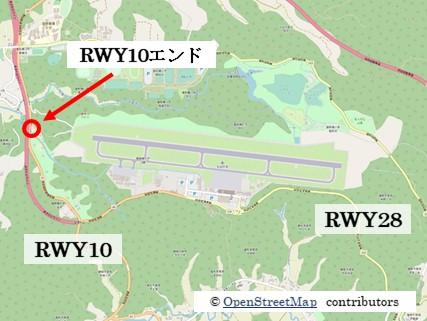 【秋田の飛行機撮影ポイント】RWY10エンド
