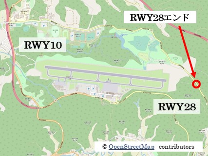 【秋田の飛行機撮影ポイント】RWY28エンド
