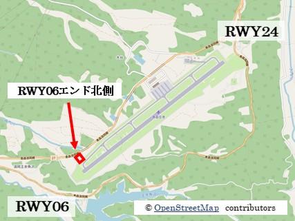 【青森の飛行機撮影ポイント】RWY06エンド北側