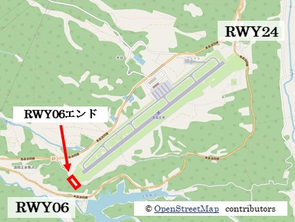 【青森の飛行機撮影ポイント】RWY06エンド